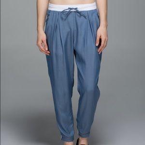 Lululemon City Jogger BLDN/WHT Chambray Blue Pants